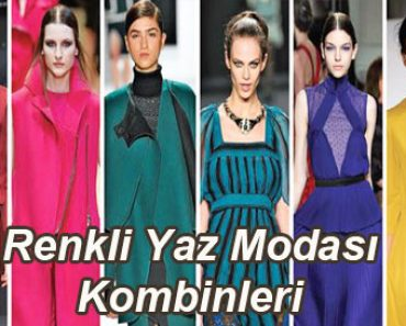 Renkli yaz modası