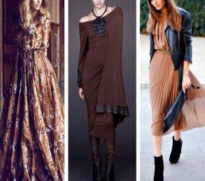 Kahverengi elbiseler